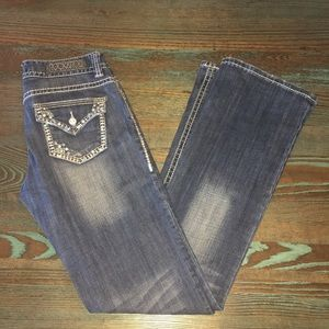Rock & Roll Mid rise bling Jeans 27